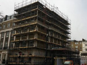 Eaton Square House project's construction site