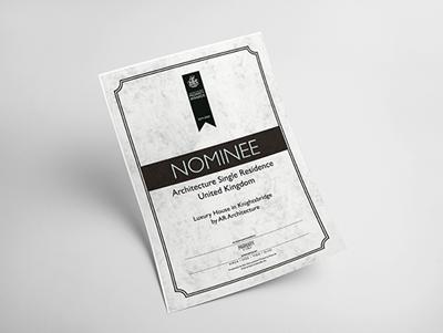 UK Property Awards 2019-2020 nominee
